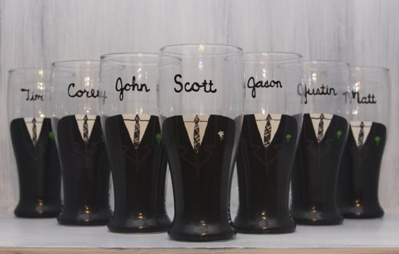 @Lizzie Peyroux these would be great for your wedding.  Customized pilsner glasses