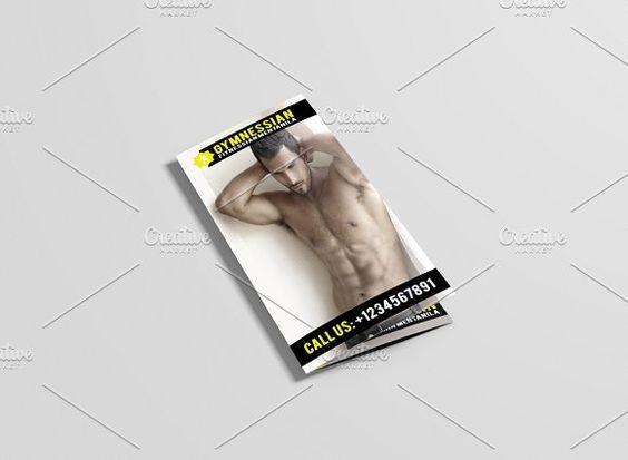 Gymnessian Tri Fold Gym Brochure by DuezaCom on @creativemarket - gym brochure