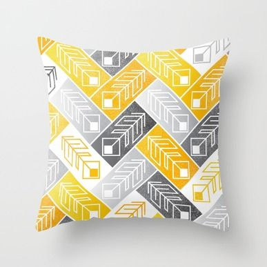 Throw Pillow featuring Bright Geometric Print by IndigoEleven
