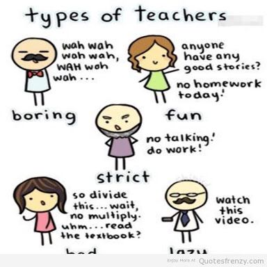 types of teachers 17 types of teachers: from buddy to sergeant, from hippie to supercoach, - how they make us study in their own ways and what students think of them  all types of teachers and students are gradually flooding the school corridors.