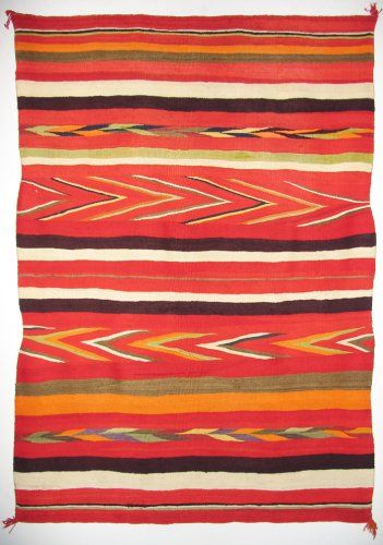 Late Classic Wedge Weave Textile C 1880 Navajo Textiles
