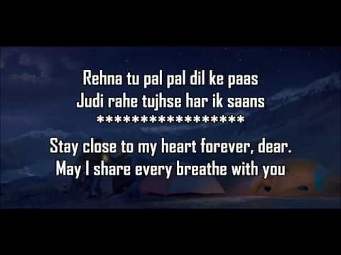 Pal Pal Dil Ke Paas Title Lyrics With Translation Arijit Parampara Karan Deol Sahher Bambba Youtube In 2020 Lyrics Pals Title