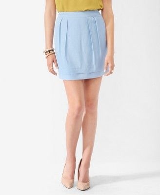 Pleated Micro-Ribbed Skirt   FOREVER21 - 2000041003