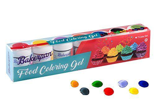 Bakerpan Food Coloring Gel Concentrate 1 oz Jars, For Icing ...