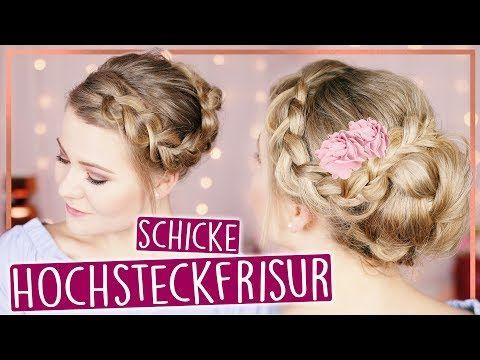 Easy Hochsteckfrisur Fur Mittel Amp Lange Haare Maybeperfect Youtube Hochsteckfrisur Frisur Hochgesteckt Steckfrisuren Mittellang