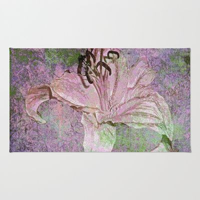 Lily Distressed Pink Area & Throw Rug by Saundra Myles - $28.00