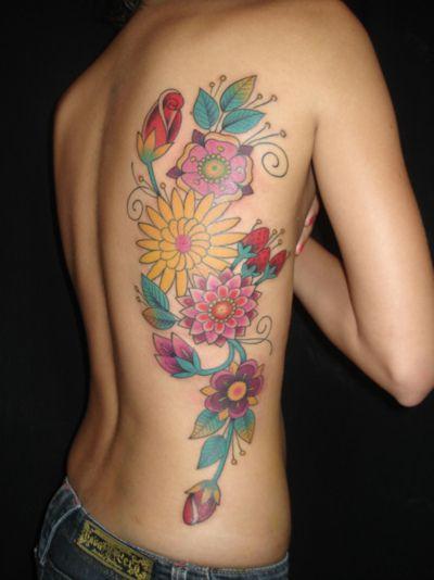 side flower tat