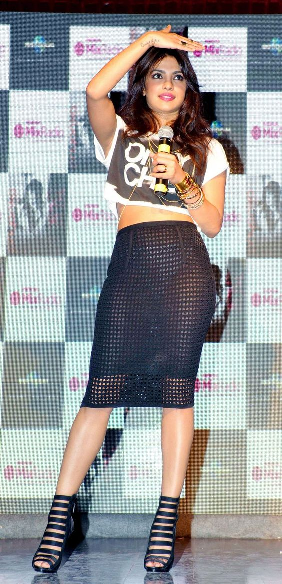 Sheer Disaster: Priyanka Chopra's Panties Peek Out From Under Her Skirt | Bollywood | www.indiatimes.com: