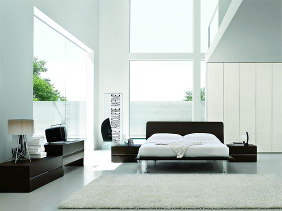 Wenge Contemporary Italian Platform Bed