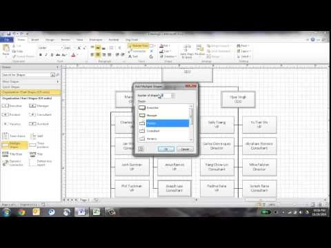 Create An Org Chart In Visio Using The Wizard Youtube