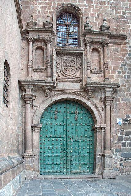 Spanish colonial doorway in Peru