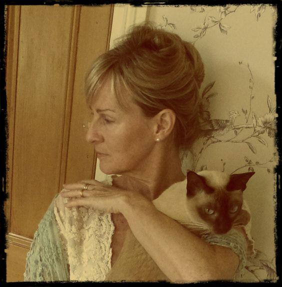 Fudge, my Tonkinese cat.