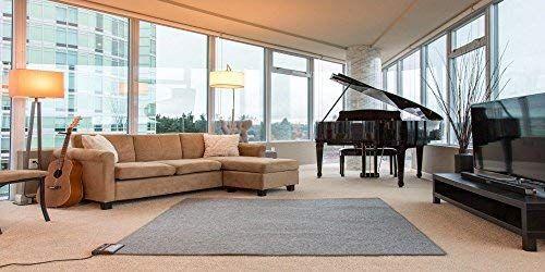 Amazon Com Radiant Floor Heater Under Rug Portable Pad For Indoor Personal Office Desk Space Heat Quiet Heated Electri Floor Heater Electric Carpet Flooring