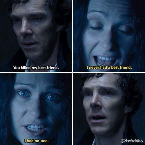 "I had no one."" - Eurus Holmes, The Final Problem | Sherlock holmes bbc,  Sherlock eurus, Sherlock holmes"
