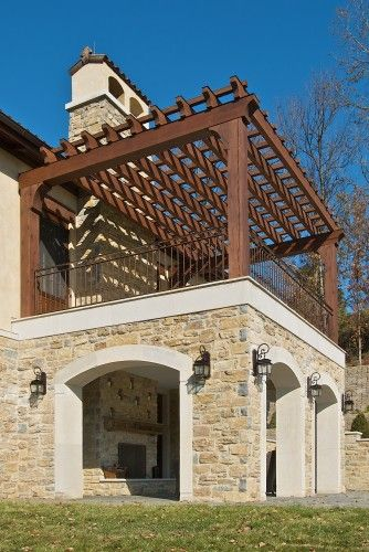 Pergola and 2nd floor master bedroom walk out deck dream for Terrace design 2nd floor