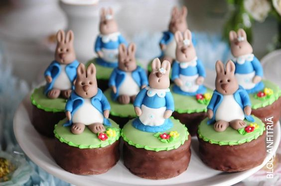 cupcakes Peter Rabbit, Easter, Páscoa: