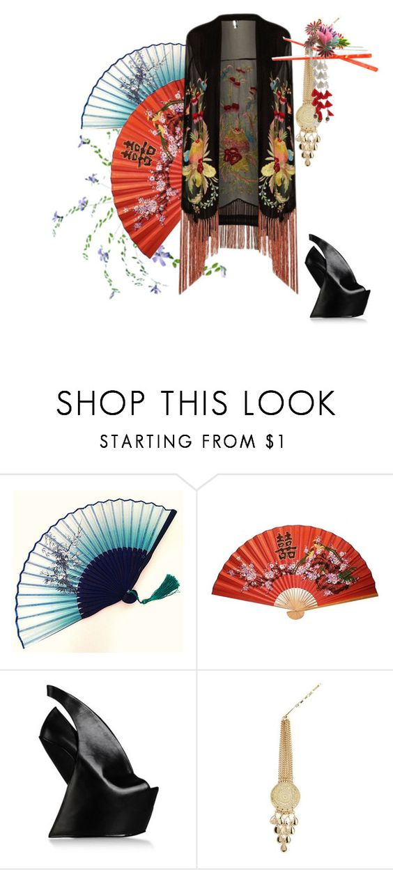 """""""Untitled #78"""" by myrealityrehashed ❤ liked on Polyvore featuring Topshop, UN United Nude, River Island, France Luxe and kimonos"""