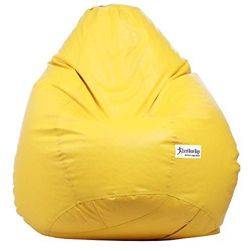 Sattva Classic Bean Bag Filled With Beans Xxl Size Yellow