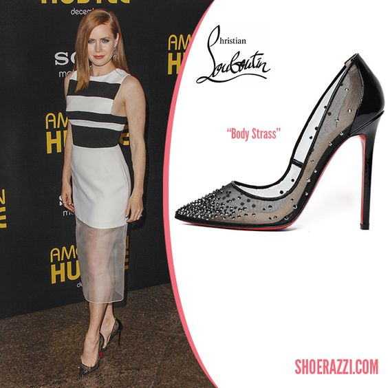 "red spiked loafers for men - Amy Adams in Christian Louboutin Crystal-Embellished ""Body Strass ..."