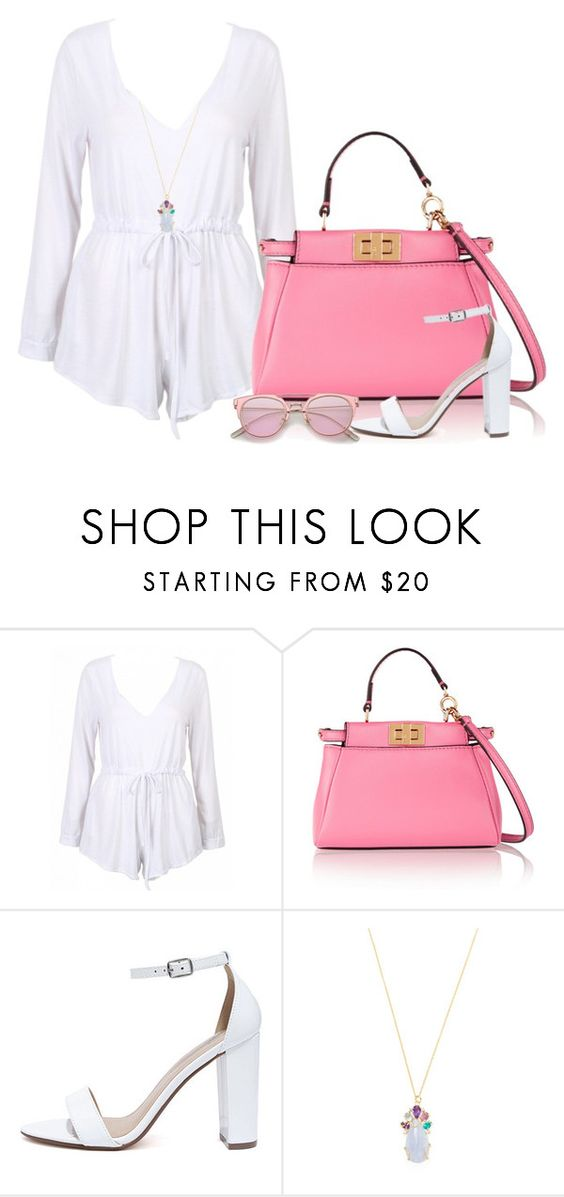 """""""Untitled #288"""" by soleilgarnett ❤ liked on Polyvore featuring Fendi, My Delicious and Indulgems"""