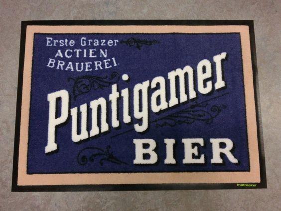 Eine Fußmatte für Puntigamer Fans.