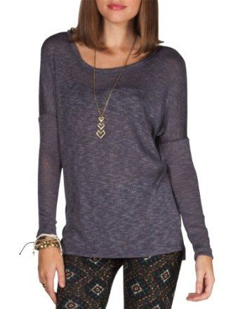 Full Tilt Women's Essential V Back Drop Shoulder Sweater only $19.99