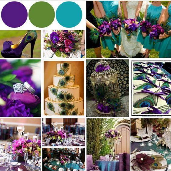 Purple And Green Wedding Ideas: #Purple #turquoise #peacock #wedding #IDEAS ... Best