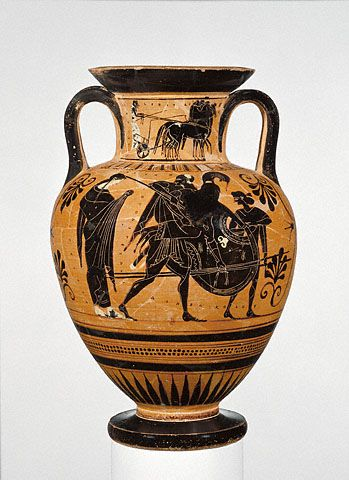 Storage Jar with Aeneas and Anchises  Greek, Athens, about 510 B.C.   Terracotta