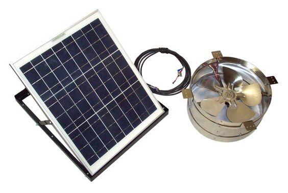 Rand Solar Powered Attic Gable Fan - 27 Watt Solar Panel - 1720 CFM Ventilator Fan - With Thermostat