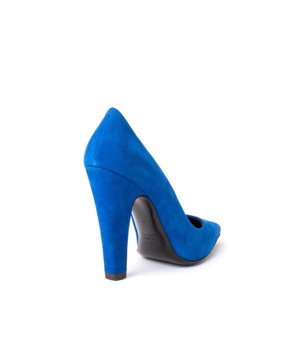 GIUSEPPE ZANOTTI 50% OFF Suede décolleté shoes leather lining leather sole heel: 11 cm