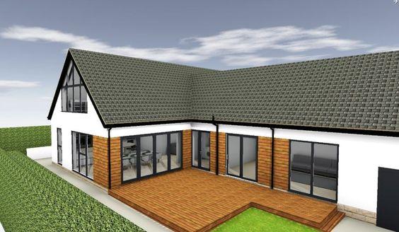 Bungalow extension ideas rear view home pinterest extension ideas extensions and bricks - Bungalow extension designs ...