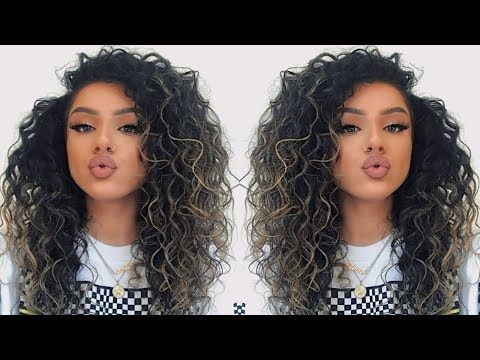 Big Curly Hair Tutorial How To Make Your Hair Look Curlier Naturally 2019 Youtube Curly Hair Tutorial Big Curly Hair Tutorial Big Curly Hair Natural