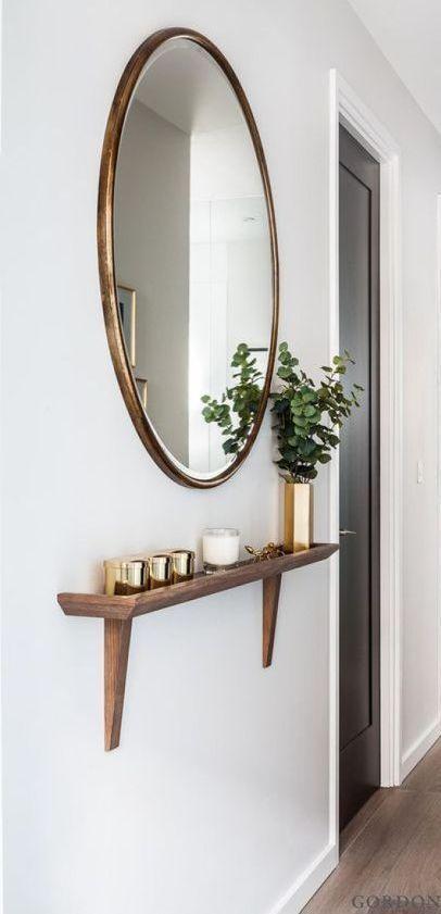espelho bonito decoração de casa. design de maneira de
