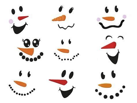 Image Result For Free Printable Snowman Face Template Vector Printable Snowman Faces Snowman Faces Christmas Stencils