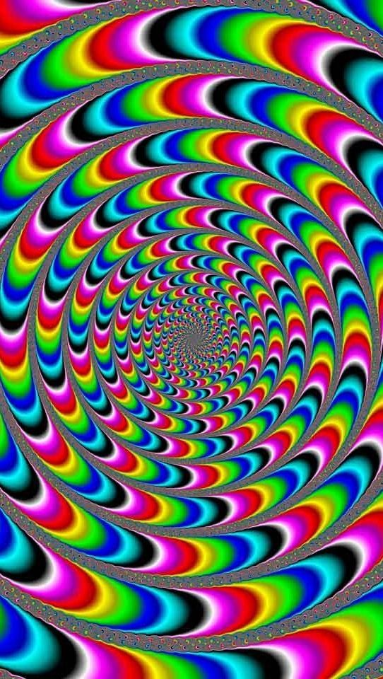 It moves if you look long enough #optical #illusion