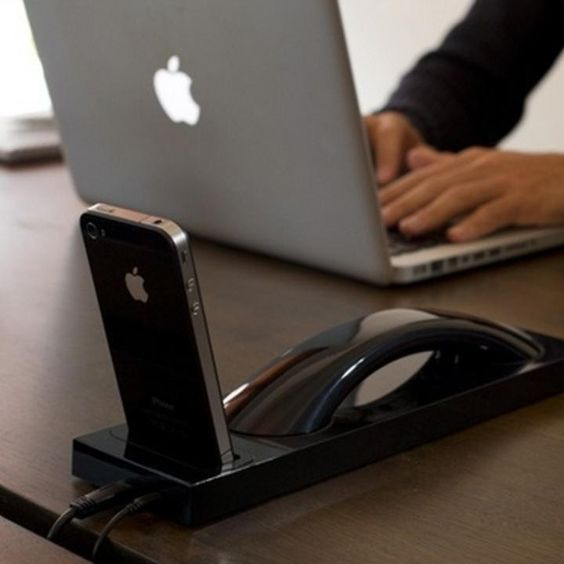 10 desirable docks that turn your iphone into a desk phone technology offices and screens. Black Bedroom Furniture Sets. Home Design Ideas