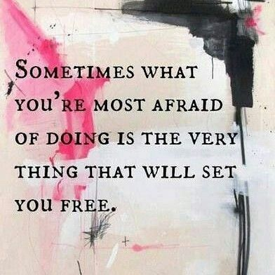 Face your fears and find freedom. Never give in to people who think they need to scare you into believing anything. You run your show. #face #fear