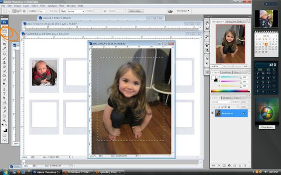 Photoshop Tutorial- Polaroid Magnets
