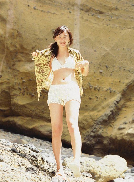 可愛い水着の新垣結衣