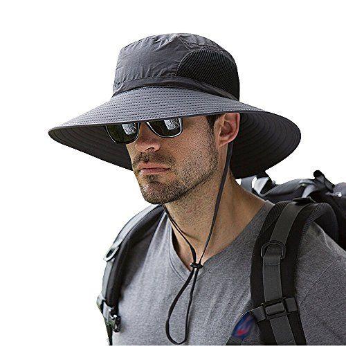 Unisex Cooling Bucket Hat UV Protection Mens Hat Comfy Outdoor Sport Work Hat