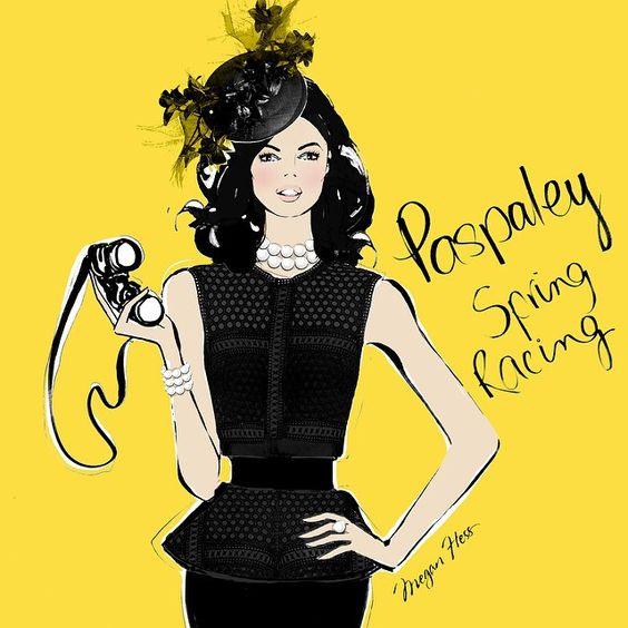 Spring Racing is almost here! The perfect accessories to a killer outfit are the one and only.... @paspaleypearls  Pop into one of their beautiful boutiques to choose the perfect Race day look. And let's not forget the HAT! I'm obsessed with the intricate designs of @millineryjill and I had enormous fun drawing one of her beautiful headpieces for this illustration.