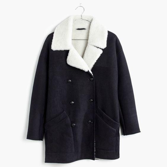madewell shearling car coat. | Coats | Pinterest | Coats Cars and