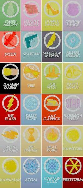 Legends of Flarrow - Superheroes logos - The Flash - Arrow - Legends of Tomorrow - DC Comics