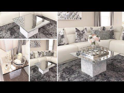 Diy Home Decor 2019 Dollar Tree Diy Glam Mirror Table Set Youtube Living Room Decor Set Living Room Diy Mirror Furniture Living Room
