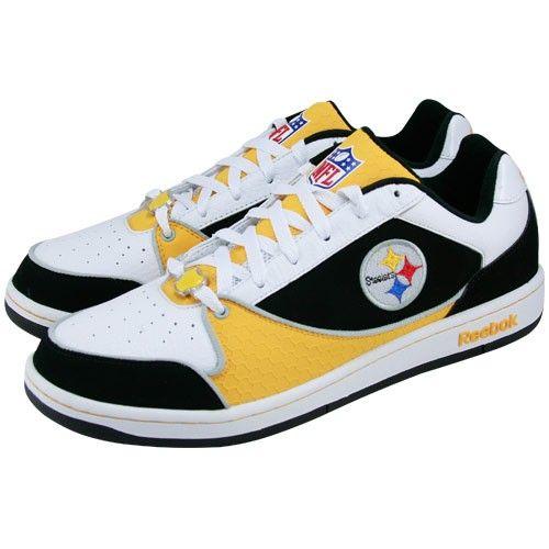 Reebok Pittsburgh Steelers White Recline Tennis Shoes