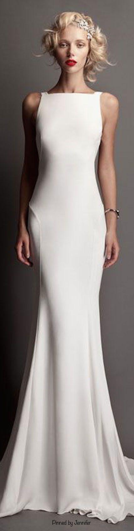 Roberto Cavalli ~ Spring White Sleeveless Gown 2015