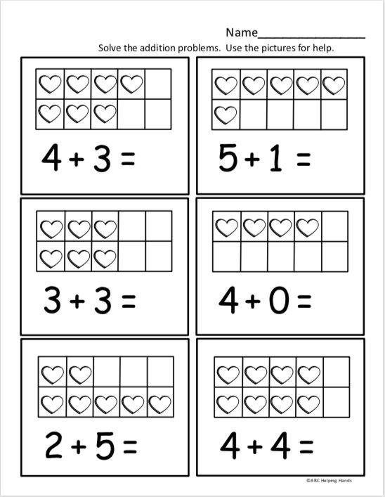Free Kindergarten Math Worksheet For Kindergarten Addition Actividadespa Kindergarten Math Worksheets Free Kindergarten Math Free Kindergarten Math Addition