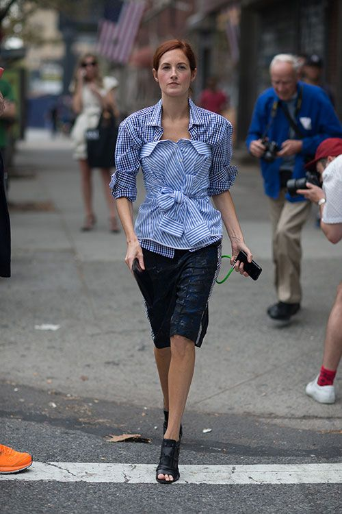 Love this:  TTH and Bill Cunningham in the back! NYFW.: