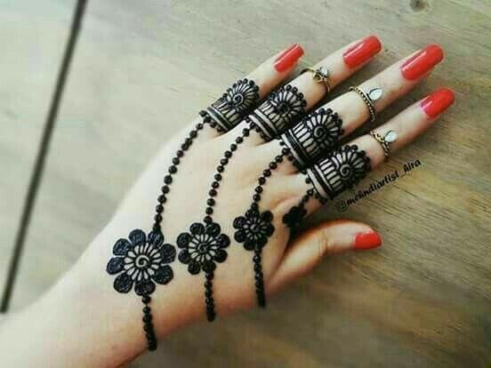 easy finger mehndi design for kids
