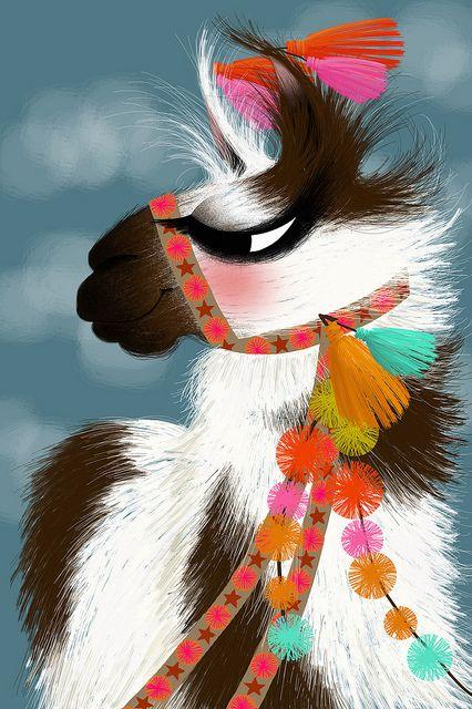 Bernardo le lama - Illustration Marie-Rose Boisson | Flickr - Photo Sharing!